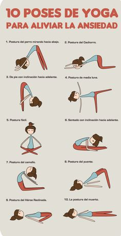 Reduce la ansiedad con estas 10 poses de yoga ;)