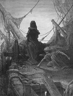 Gustave Doré was a French artist, printmaker, illustrator and sculptor. Doré worked primarily with wood engraving. Gustave Dore's Ancient Mariner - 1870.
