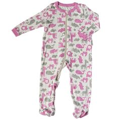 21ca0ce7ac Silkberry Baby Bamboo UnisexBaby Newborn Footie Sleeper Rosie 36m     See  the picture web