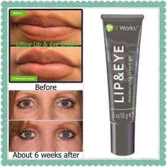 It Works Lifting Lip and Eye Cream! Works on those droopy eyes, crows feet, and makes your lips fuller. www.wrapswithkristen.com