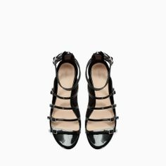 Image 2 of FLAT STRAPPY SANDAL from Zara