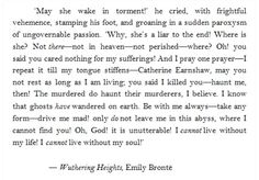 Emily Bronte, Wuthering Heights #quotes #favouritebooks