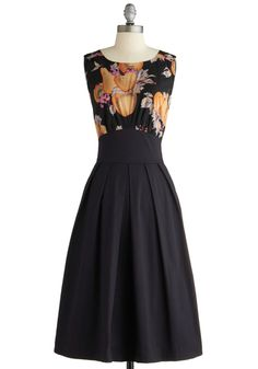 The Polite Pairing Dress in Fruit. This item was picked by you in our Be the Buyer Program and will be sold exclusively online at ModCloth! #black #modcloth