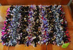 limpia pies / mini alfombra hecha de tela y ropa reciclada
