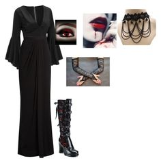 """""""Untitled #127"""" by hippyrain ❤ liked on Polyvore featuring Alexander McQueen and Demonia"""