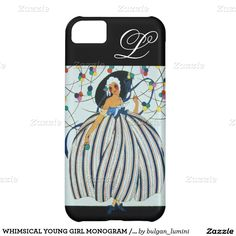 WHIMSICAL YOUNG GIRL MONOGRAM / Beauty Fashion iPhone 5C Case