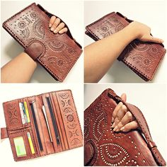 7cfdc1e5289 GGG FASHION Owl Women Genuine Leather Oversized Wallet Phone Travel Party  Clutch in Clothing