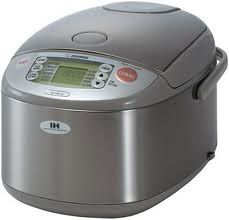 Zojirushi (Uncooked) Rice Cooker and Warmer with Induction Heating System, Stainless Steel: Kitchen & Dining Stainless Steel Rice Cooker, Stainless Steel Kitchen, Small Kitchen Appliances, Kitchen Gadgets, Kitchen Tools, Kitchen Products, Kitchen Items, Kitchen Stuff, Kitchen Hacks