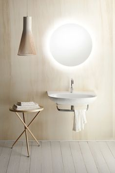 Washbasin for wall-hung or sit on istallation. 0, 1 or 3 tapholes. Suitable for wall-hung, sit on installation or structure.