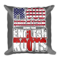 American With English Roots Pillow