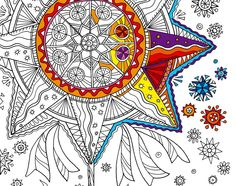 The coloring in Ukrainian Christmas style by Puzyrna Galyna ; free download http://2colory.blogspot.com/2015/12/blog-post_18.html