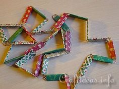 Paperclip necklace with any wrapping paper or scrapbook paper.