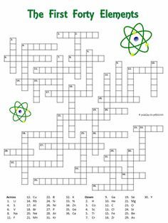 The 21 best chemistry jokes images on pinterest chemistry posters free crossword of the first forty elements the symbol is given and puzzlers must supply urtaz Images