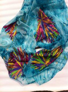 Flora (pure handmade silk scarf) by Anjali Sinha