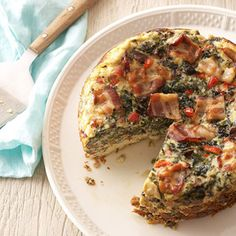 Crustless Spinach-and-Mushroom Quiche