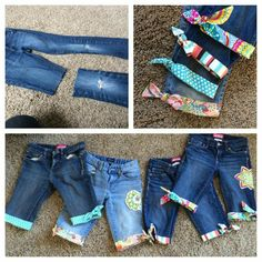 Revamp old jeans