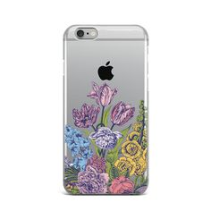 Flower Floral Rubber Silicone Cover Case For iPhone 4 4S 5 5S 5c SE 6 6S 7 Plus #Apple