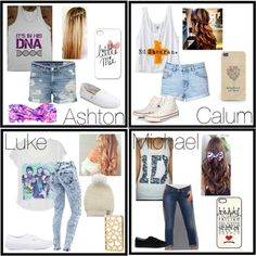 5SOS Preference~ I would wear any of these I love all of these singers. Every. Single. One.