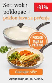 Set wok+poklopac, poklon tava za pečenje!