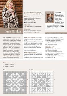 Love the chart motifs Crochet Square Patterns, Crochet Motifs, Knit Crochet, Knitting Charts, Knitting Stitches, Knitting Patterns, Knitted Afghans, Knitted Blankets, Fair Isle Pattern