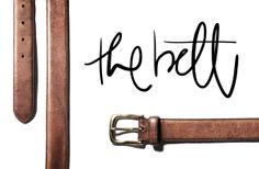 the-belt a classic, brown leather, perfect