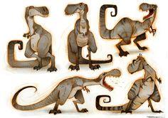 T-Rex, Thibault LECLERCQ on ArtStation at https://www.artstation.com/artwork/YrLmw