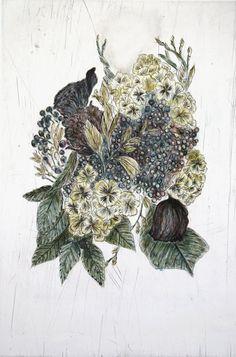 Touch (Hydrangea) - Kiki Smith prints http://www.printed-editions.com/art-print/kiki-smith-touch-hydrangea-52421