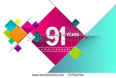 St anniversary logo colorful geometric background vector design