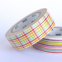 Colourful Check - mt Washi Tape from omiyage.ca