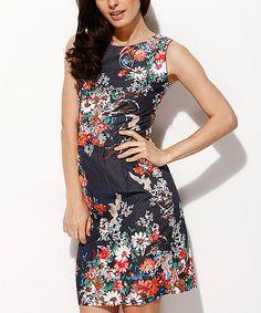 Love this Scarlett Navy & Red Floral Sheath Dress by Scarlett on #zulily! #zulilyfinds