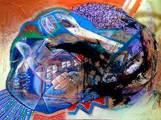 "Saatchi Art Artist Hans Simtanda Caspersen; Painting, ""Feeling Like A Little Worm On A Motherfucking Hook"" #art"