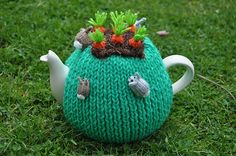 This tea cosy is is made with several artists input, including Katie Lewth and Mochi Mochi Land.