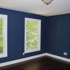 Benjamin Moore Newburyport Blue. Paint color man room.