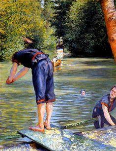 Gustave Caillebotte - Baigneur s'apprêtant à plonger