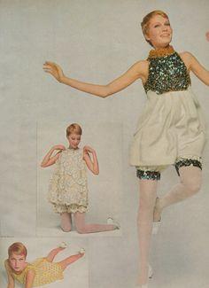 via alligatorteeth: Mia Farrow by David Bailey; Vogue August 1961 SEQUIN BLOOMERS UH HUH!