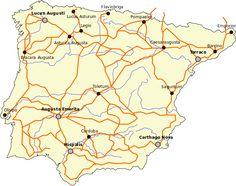 Hispania roads - Romanización de Hispania - Wikipedia, la enciclopedia libre