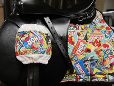 Custom Stirrup Covers and Full All Purpose English Saddle Pad - Comic book by Secret Passage Couture