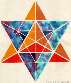 Sacred Geometry / Merkaba / Excellence Strength by Sarjana Sky, via Flickr