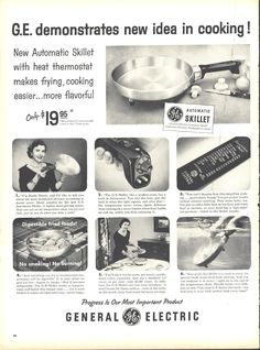 General Electric GE Automatic Skillet Page LIFE May 16 1955