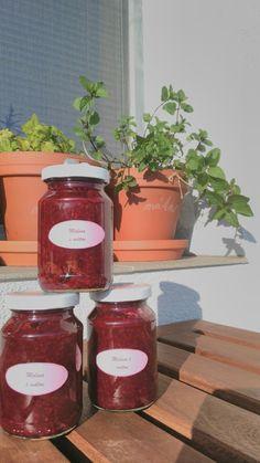 Raspberry and mint jam.