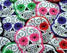 Mexican Sugar Skull Headband by TheDollCityRocker on Etsy, $15.00