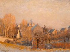 Alfred Sisley - Rauhreif in Louveciennes