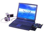 2代目パソコン『SONY VAIO PCG-F23/BP』。DVビデオからの取り込み・編集まで出来たのは当時としては最先端だったかも。VAIOが元気だった頃ですね。