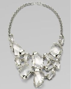 Faceted Crystal Bib Necklace