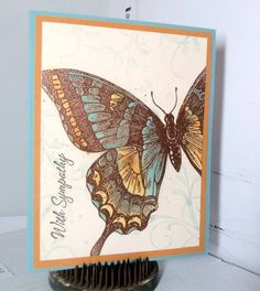 Swallowtail in Copper by MommaStamper - Cards and Paper Crafts at Splitcoaststampers