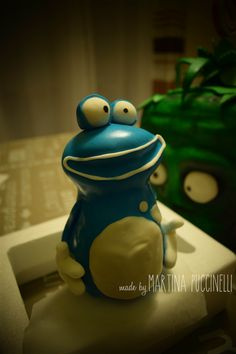 Cake Topper Rayman Origins by Martina Puccinelli Rayman Origins, Cold Porcelain, Birthday Cakes, Cake Toppers, Cami, The Originals, Decor, Decoration, Birthday Cake