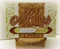 A Beautiful Card For A Beautiful Mom...Made Easy! Why cut up perfectly new papers when you probably have a pile of scraps in your crafting supply that do not need to go to waste?