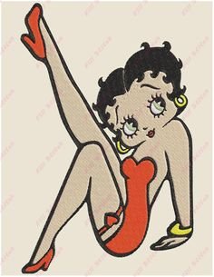 Betty Boop Filled 02 Embroidery Design  Instant Download ZIP file  Sizes: 5x7 6x10   Formats: PES, PEC, DAT, DST, EXP, HUS, JEF, JEF+, SEW, T01, VIP, VP3, XXX   All my designs is Digitized Manually. This is not patch, This is machine embroidery design.