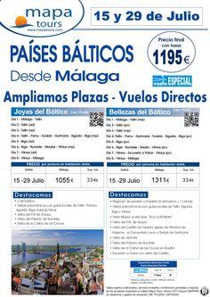 Países Bálticos 15 y 29 julio desde Málaga***desde 1195 €, precio final*** - http://zocotours.com/paises-balticos-15-y-29-julio-desde-malagadesde-1195-e-precio-final-2/