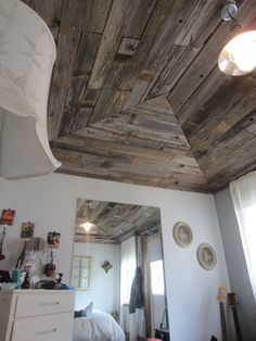 use reclaimed fence boards for inside barn look - Google Search